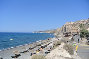 The Eros Beach, Santorini